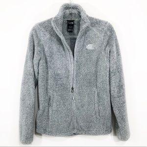 THE NORTH FACE | fuzzy full zip gray jacket coat